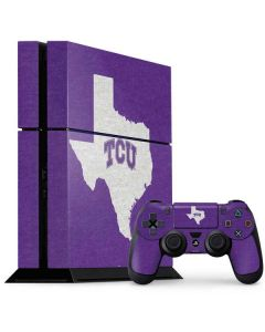 TCU Texas Outline PS4 Console and Controller Bundle Skin