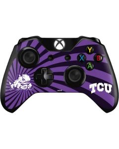 TCU Horned Frogs Mascot Swirl Xbox One Controller Skin