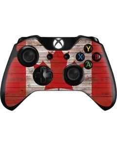 Canadian Flag Dark Wood Xbox One Controller Skin