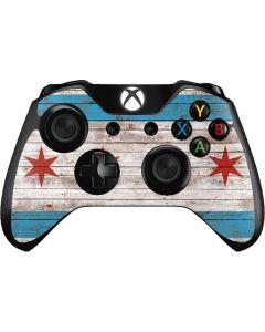 Chicago Flag Dark Wood Xbox One Controller Skin