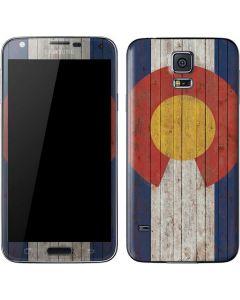 Colorado Flag Dark Wood Galaxy S5 Skin