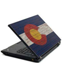 Colorado Flag Dark Wood Lenovo T420 Skin