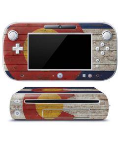 Colorado Flag Dark Wood Wii U (Console + 1 Controller) Skin