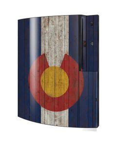 Colorado Flag Dark Wood Playstation 3 & PS3 Skin