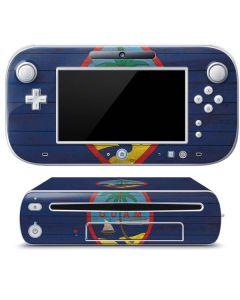 Guam Flag Dark Wood Wii U (Console + 1 Controller) Skin