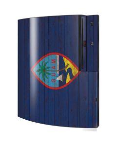 Guam Flag Dark Wood Playstation 3 & PS3 Skin