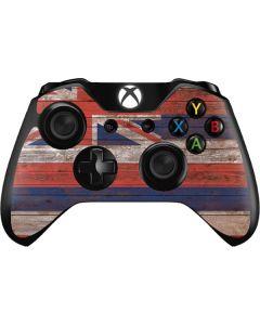 Hawaiian Flag Dark Wood Xbox One Controller Skin