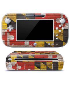 Maryland Flag Dark Wood Wii U (Console + 1 Controller) Skin