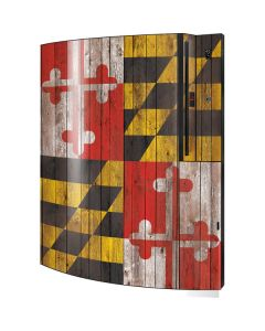 Maryland Flag Dark Wood Playstation 3 & PS3 Skin