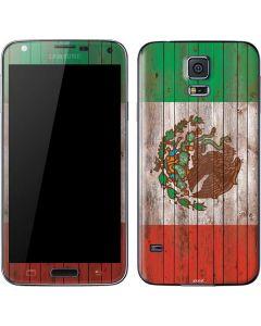 Mexican Flag Dark Wood Galaxy S5 Skin