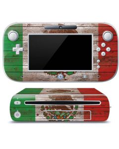Mexican Flag Dark Wood Wii U (Console + 1 Controller) Skin