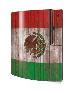 Mexican Flag Dark Wood Playstation 3 & PS3 Skin