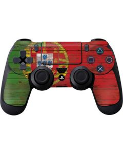 Portuguese Flag Dark Wood PS4 Controller Skin