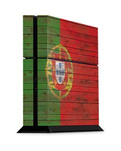 Portuguese Flag Dark Wood PS4 Console Skin
