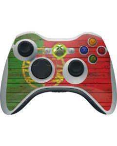 Portuguese Flag Dark Wood Xbox 360 Wireless Controller Skin