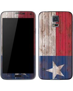 Texas Flag Dark Wood Galaxy S5 Skin