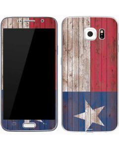 Texas Flag Dark Wood Galaxy S7 Skin