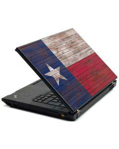 Texas Flag Dark Wood Lenovo T420 Skin
