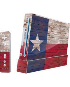 Texas Flag Dark Wood Wii (Includes 1 Controller) Skin