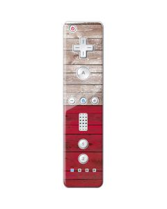 Texas Flag Dark Wood Wii Remote Controller Skin