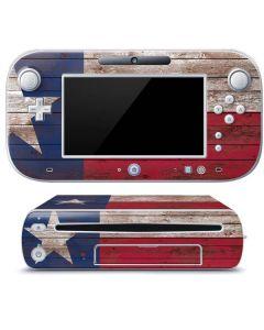 Texas Flag Dark Wood Wii U (Console + 1 Controller) Skin