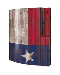 Texas Flag Dark Wood Playstation 3 & PS3 Skin