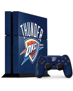 OKC Thunder Distressed Blue PS4 Console and Controller Bundle Skin