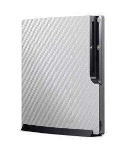 White Carbon Fiber Playstation 3 & PS3 Slim Skin