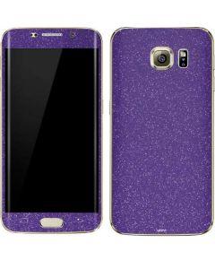 Diamond Purple Glitter Galaxy S7 Edge Skin