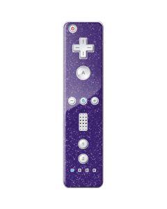 Diamond Purple Glitter Wii Remote Controller Skin