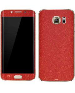 Diamond Red Glitter Galaxy S7 Edge Skin