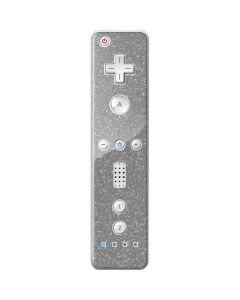 Diamond Silver Glitter Wii Remote Controller Skin