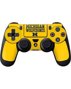 Michigan Wolverines PS4 Controller Skin