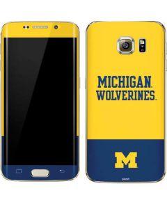 Michigan Wolverines Split Galaxy S7 Edge Skin