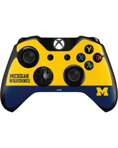 Michigan Wolverines Split Xbox One Controller Skin