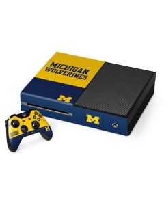 Michigan Wolverines Split Xbox One Console and Controller Bundle Skin