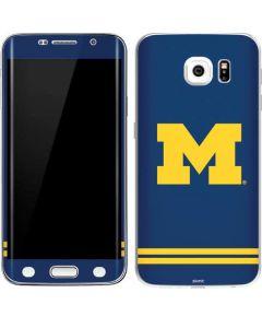 Michigan Logo Striped Galaxy S6 Edge Skin