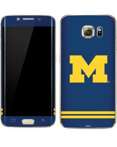 Michigan Logo Striped Galaxy S7 Edge Skin