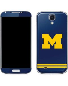 Michigan Logo Striped Galaxy S4 Skin