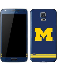 Michigan Logo Striped Galaxy S5 Skin