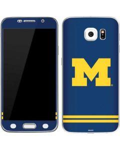 Michigan Logo Striped Galaxy S6 Skin