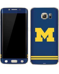 Michigan Logo Striped Galaxy S6 edge+ Skin