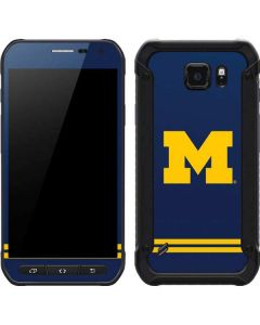 Michigan Logo Striped Galaxy S6 Active Skin