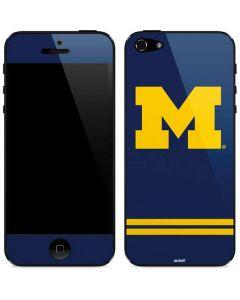 Michigan Logo Striped iPhone 5/5s/SE Skin