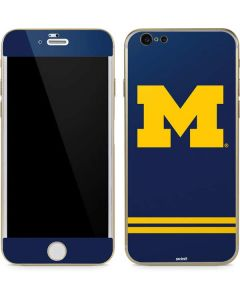 Michigan Logo Striped iPhone 6/6s Skin