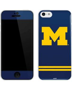 Michigan Logo Striped iPhone 5c Skin