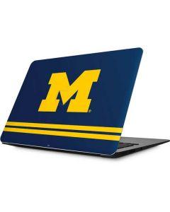 Michigan Logo Striped Apple MacBook Skin