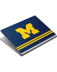 Michigan Logo Striped Surface Book Skin