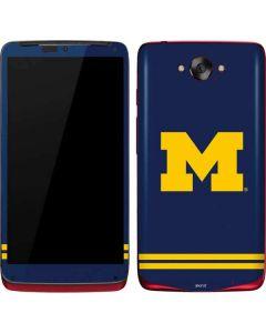 Michigan Logo Striped Motorola Droid Skin