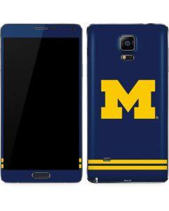 Michigan Logo Striped Galaxy Note 4 Skin